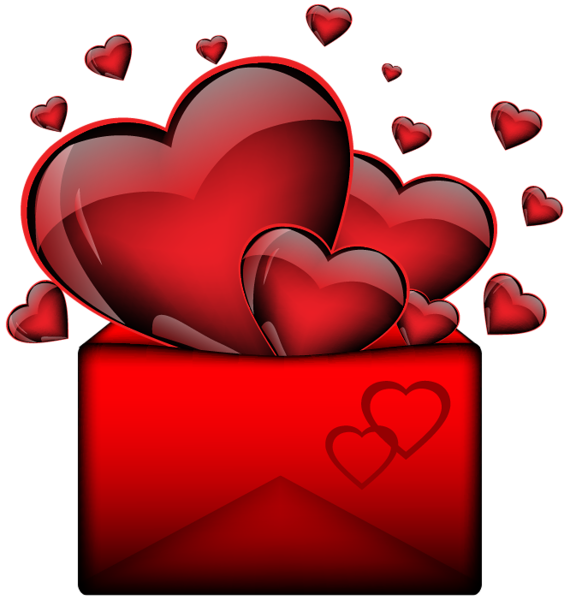 Hearts with letter png. Coffee clipart valentines day