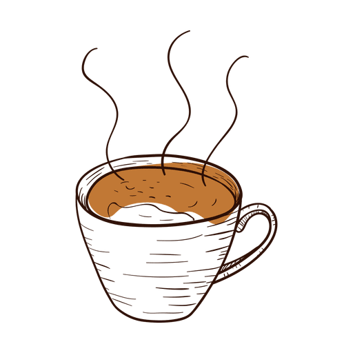 Coffee cup vector png. Hand drawn transparent svg