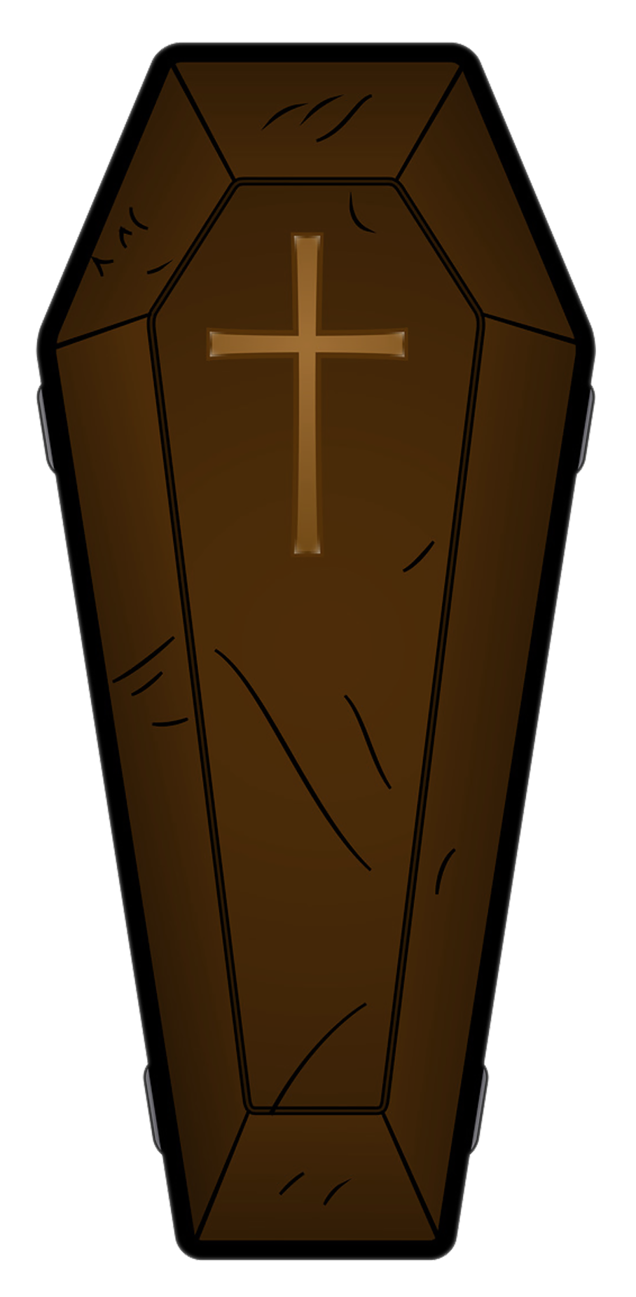 Halloween brown png picture. Coffin clipart