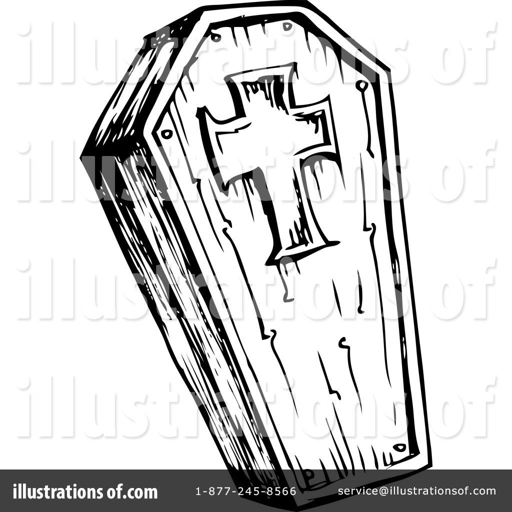 Coffin clipart. Illustration by visekart royaltyfree
