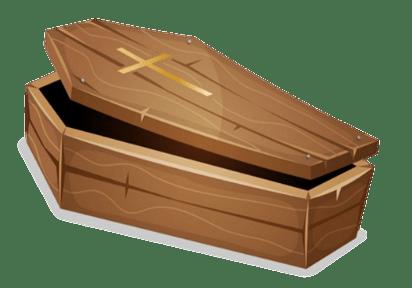 Coffin clipart. Transparent png stickpng