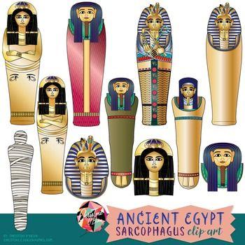 Ancient egypt clip art. Mummy clipart sarcophagus