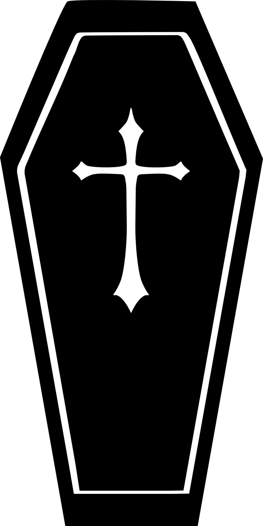 collection of high. Coffin clipart black and white