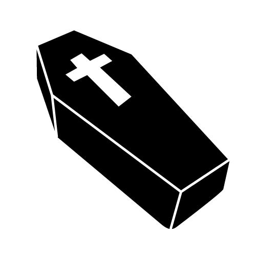 Free cliparts download clip. Coffin clipart black and white