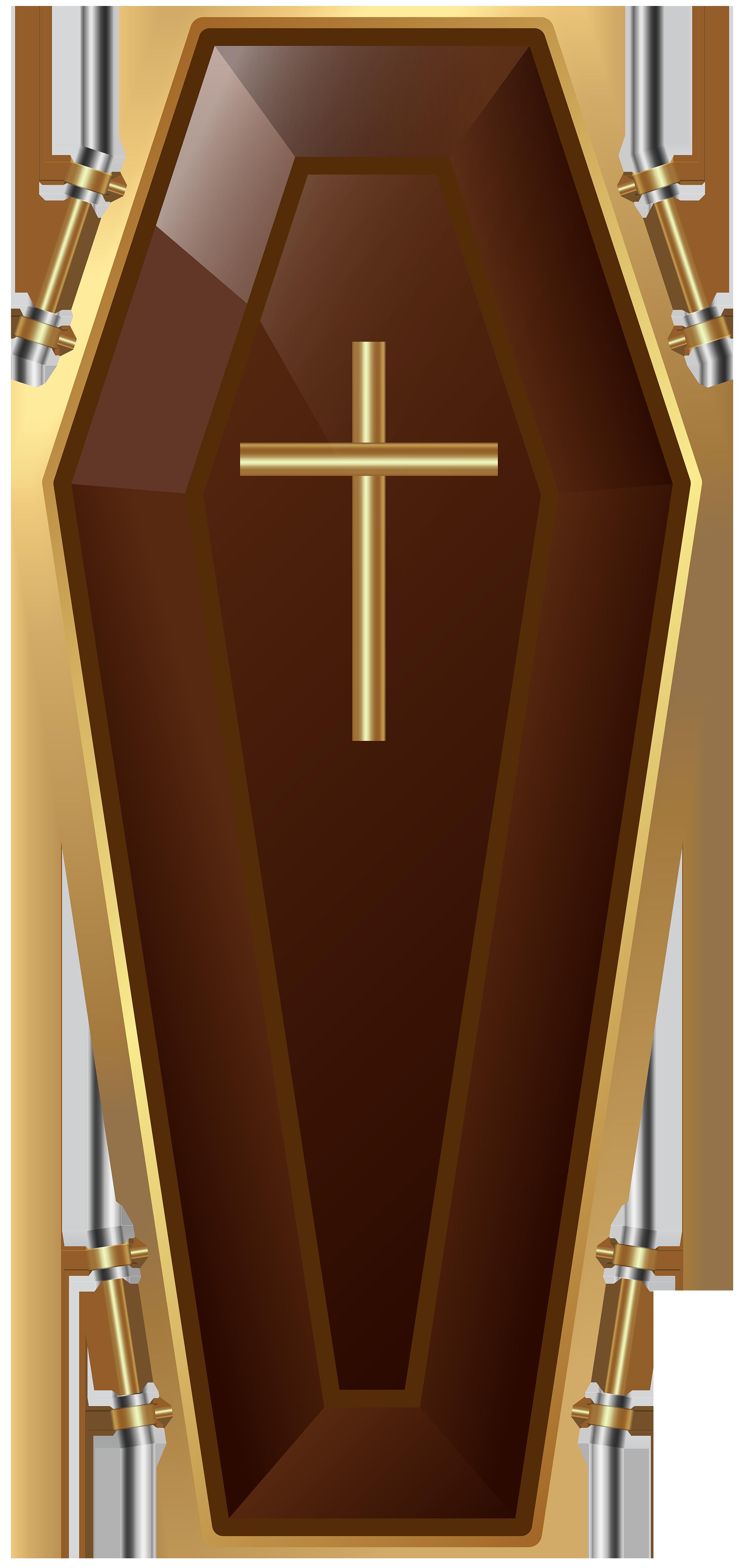 Crucifix clipart pink cross. Brown coffin transparent png