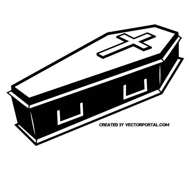 Free black cliparts download. Coffin clipart clip art