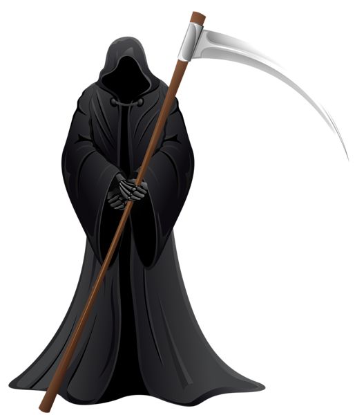 Grim reaper png vector. Witch clipart dragon