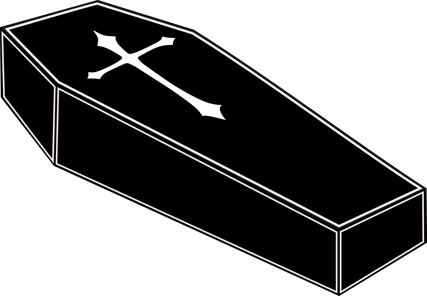 collection of cartoon. Coffin clipart empty