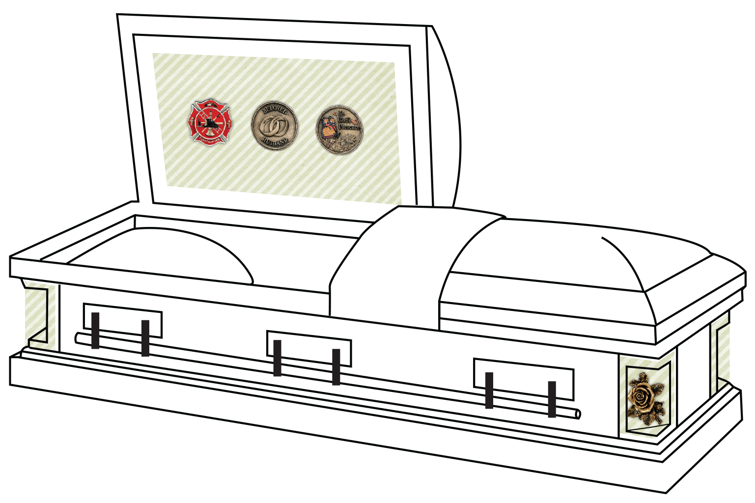 Funeral clipart coffin funeral. Batesville casket commemorative caskets