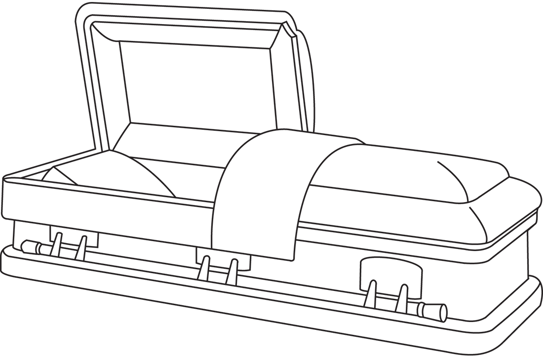Drawing at getdrawings com. Coffin clipart funeral casket