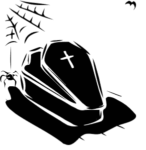 Coffin clipart halloween. Clip art picture of