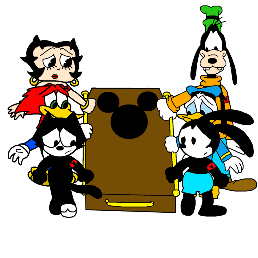 Carrying mickey mouse s. Coffin clipart rip