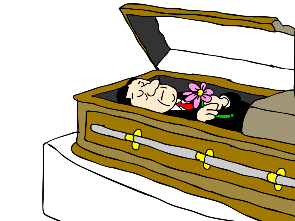 coffin clipart rip