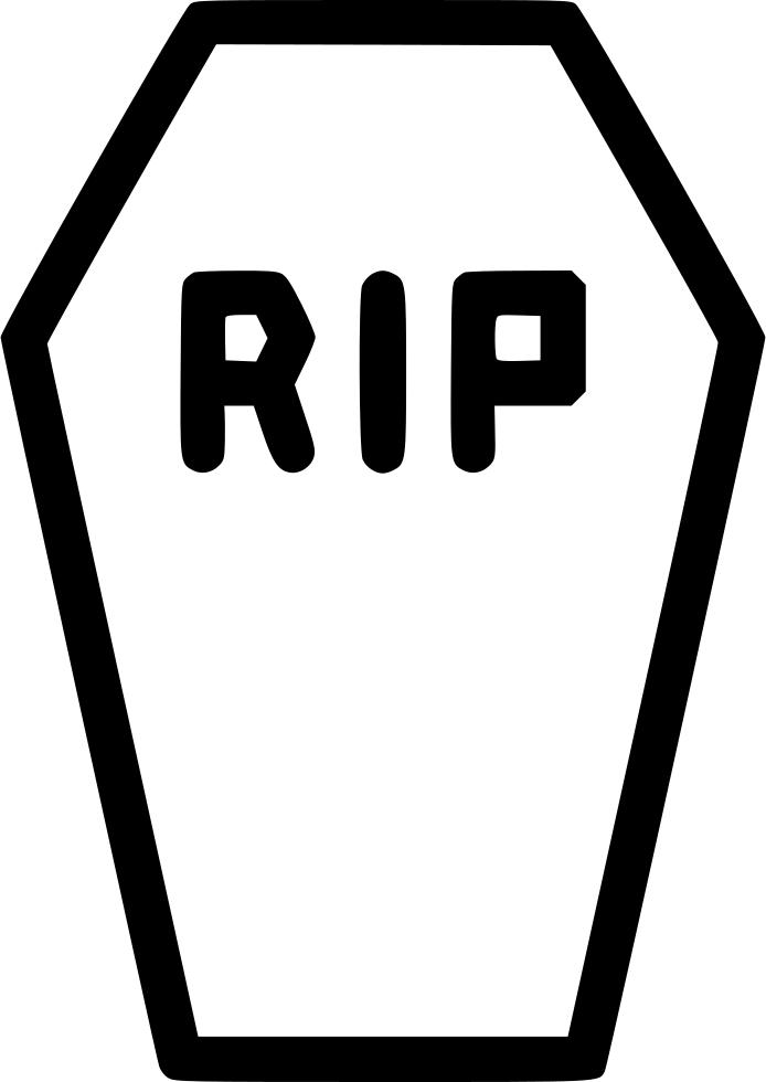 Casket death funeral comments. Coffin clipart rip