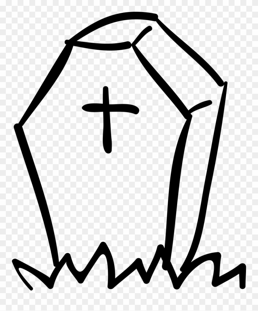 Coffin clipart tomb stone. Halloween tombstone of shape