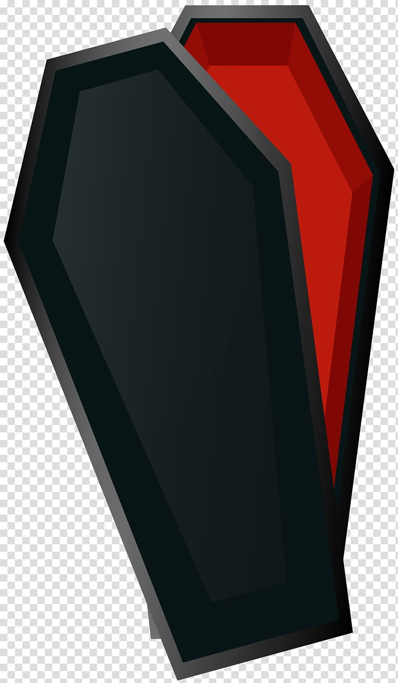 Funeral clipart halloween. Black and red coffin
