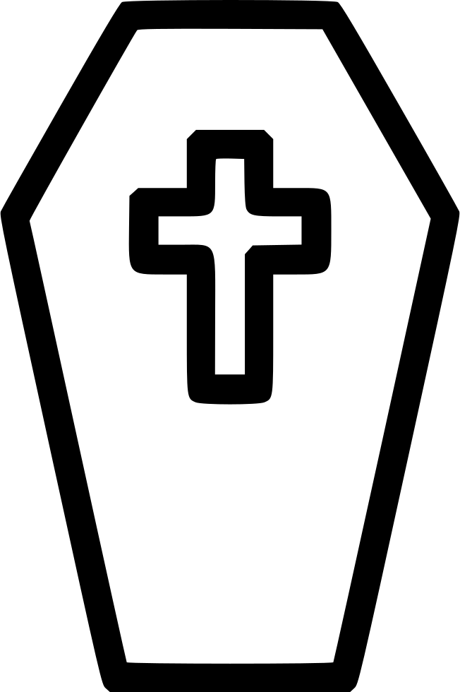 Coffin casket cross svg. Funeral clipart undergarment