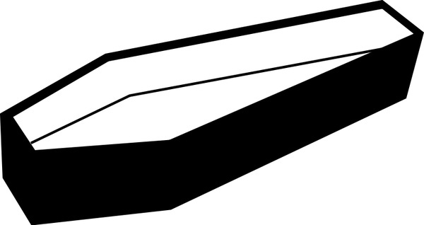 Coffin clipart vector. Free download for