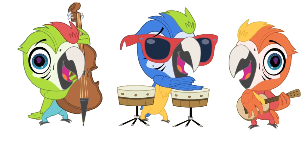 Lps the macaw jazz. Manatee clipart vector