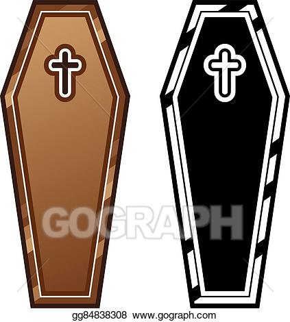 Coffin clipart vector. Art coffins drawing gg