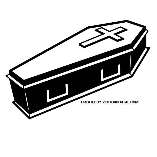 Clip art various vectors. Coffin clipart vector