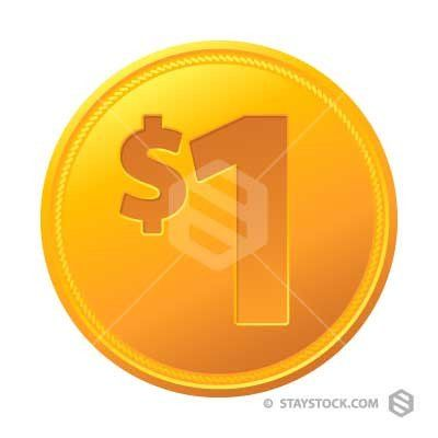 Coins clipart dollar coin. One education in