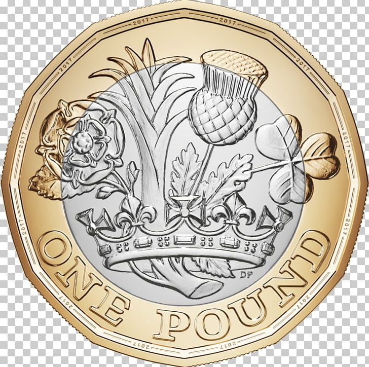 Royal mint one coin. Coins clipart pound