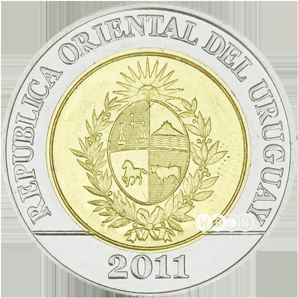 Coin clipart 10 peso. Wbcn uruguay circulation