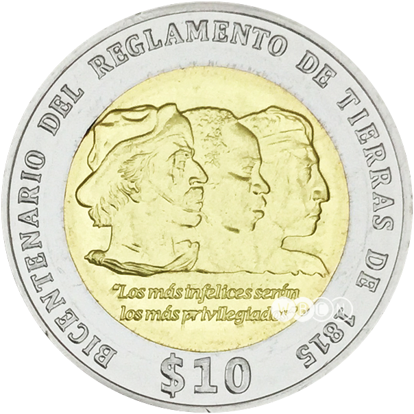 Wbcn uruguay reverse puma. Coin clipart 10 peso