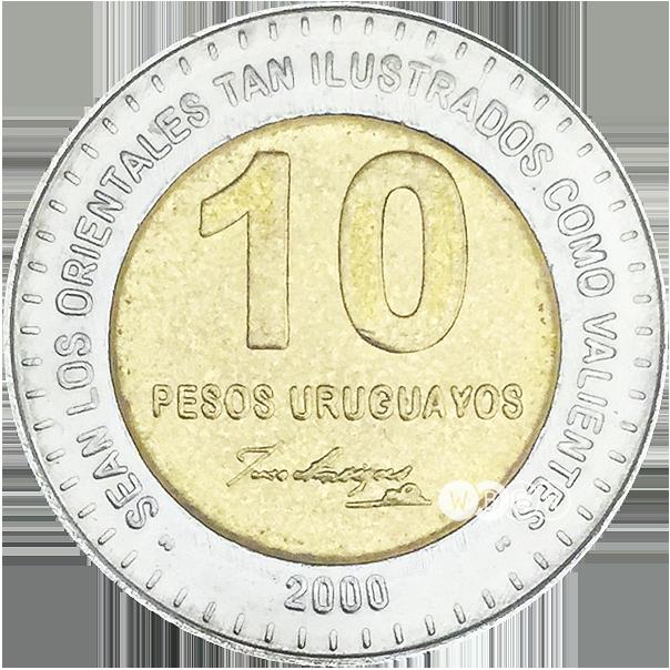 Coin clipart 10 peso. Wbcn uruguay pesos