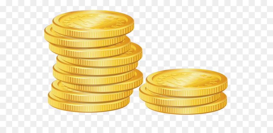 Coin clipart. Gold clip art pile