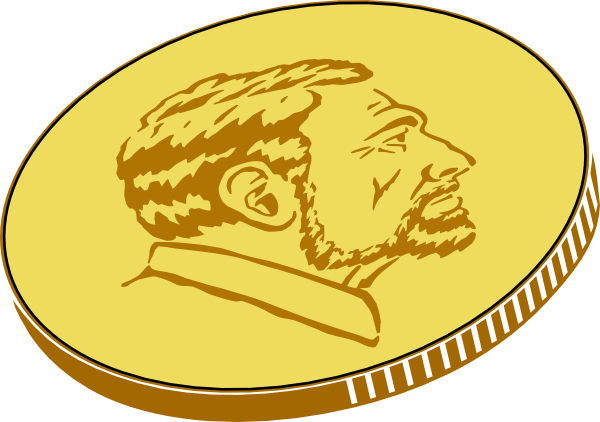 Coin clipart. Gold clip art at