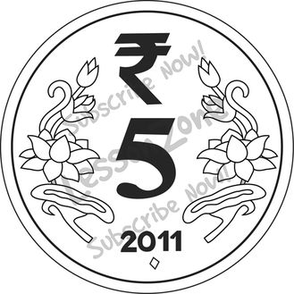 Coin clipart 5 rupee.