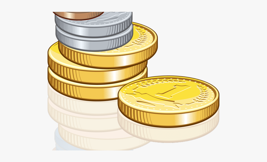 Purse money exchange transparent. Coins clipart bill coin