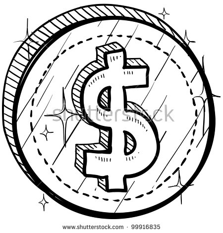 Station . Coin clipart black and white