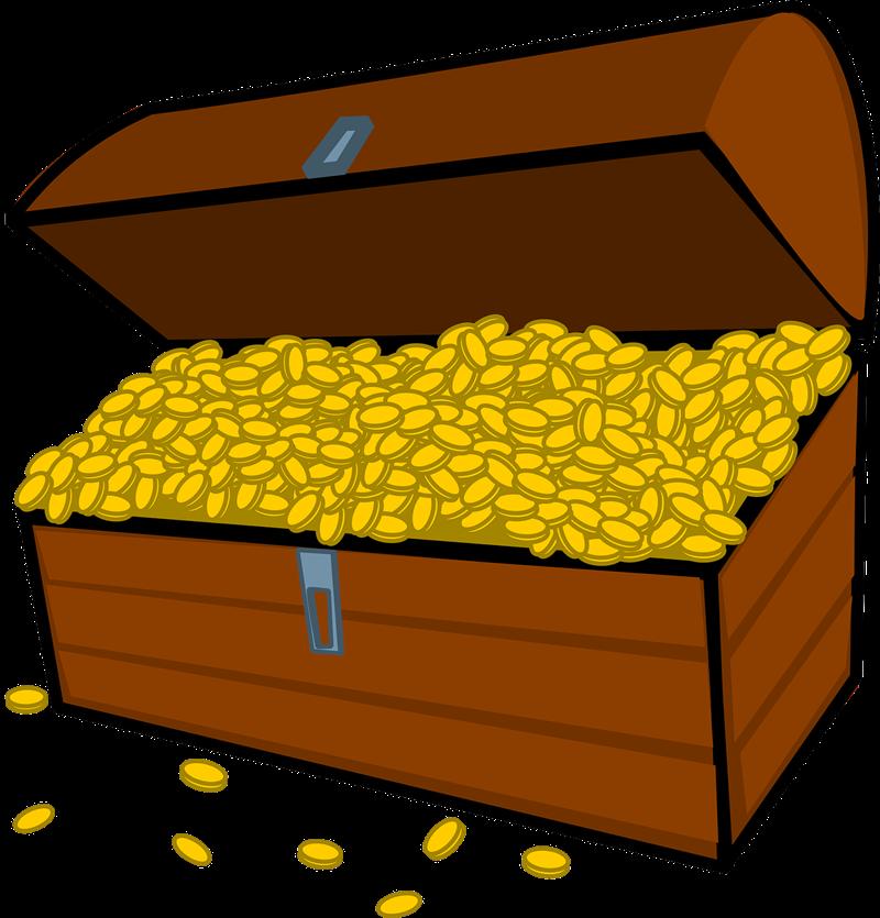 Free download clip art. Treasure clipart treasure coin