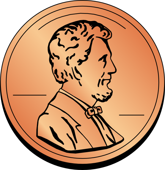 Nickel clipart penny tail. Coin clip art free