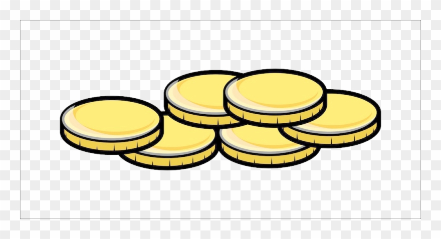 Png transparent library gold. Coin clipart cartoon