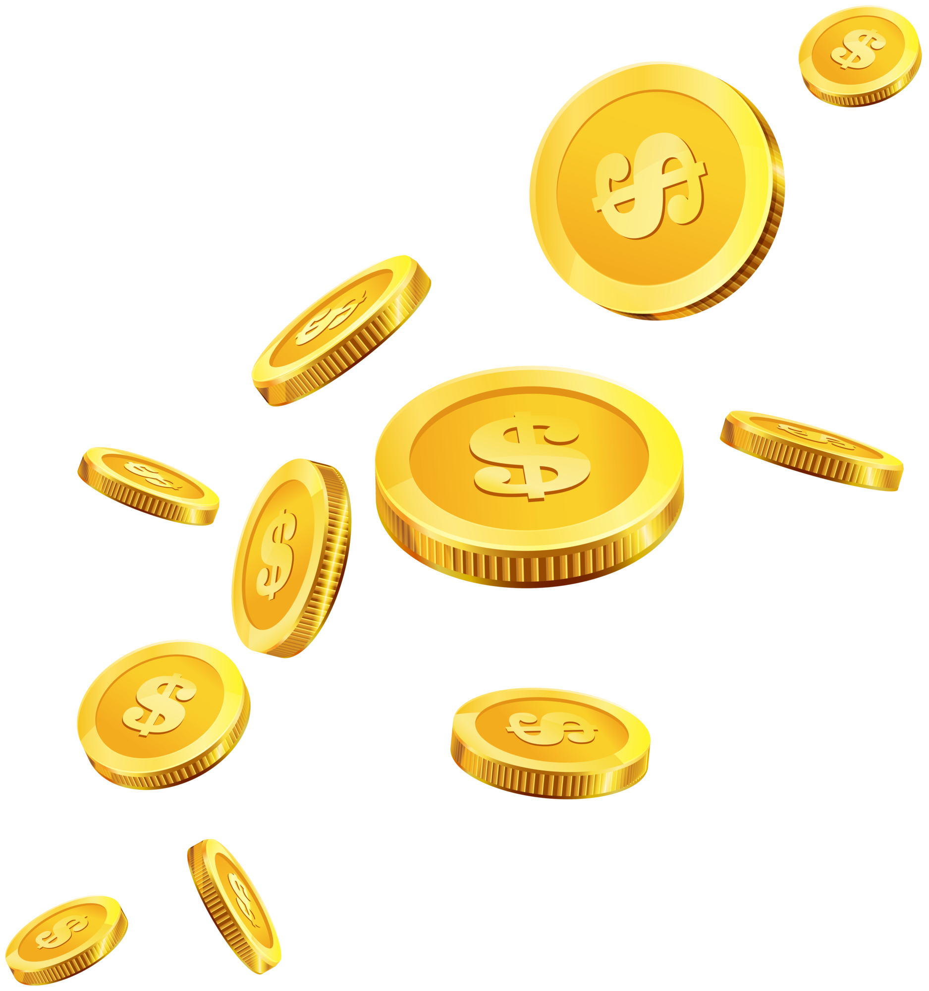 Coins clip art . Gold smoke png