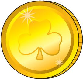 Clip art library . Coins clipart gold coin