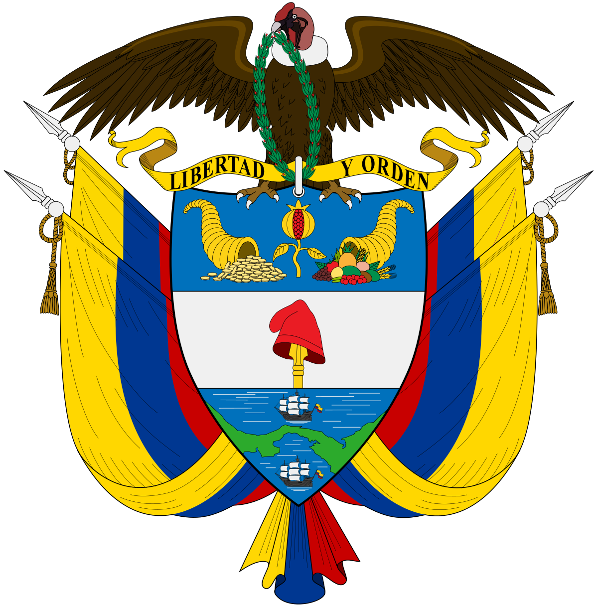 Coat of arms colombia. Democracy clipart government structure