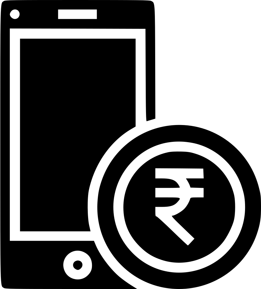 Mobile money currency coin. Coins clipart rupee