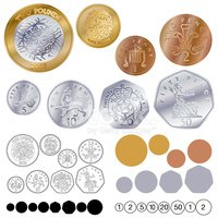 Coin clipart coin uk. Coins stock vectors me