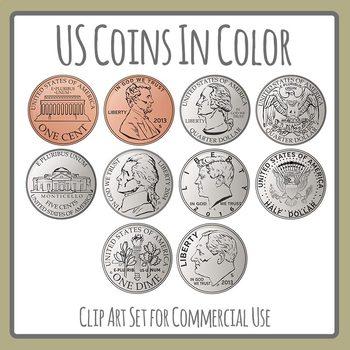 Us coins portal . Coin clipart color