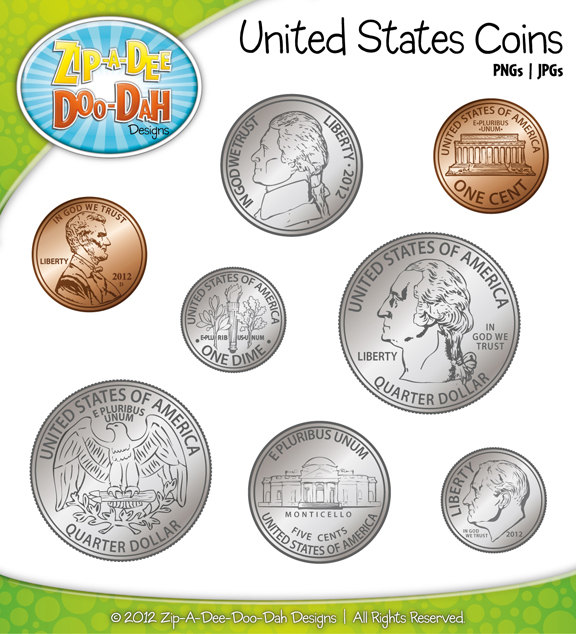 Coin clipart currency us. Free american coins cliparts