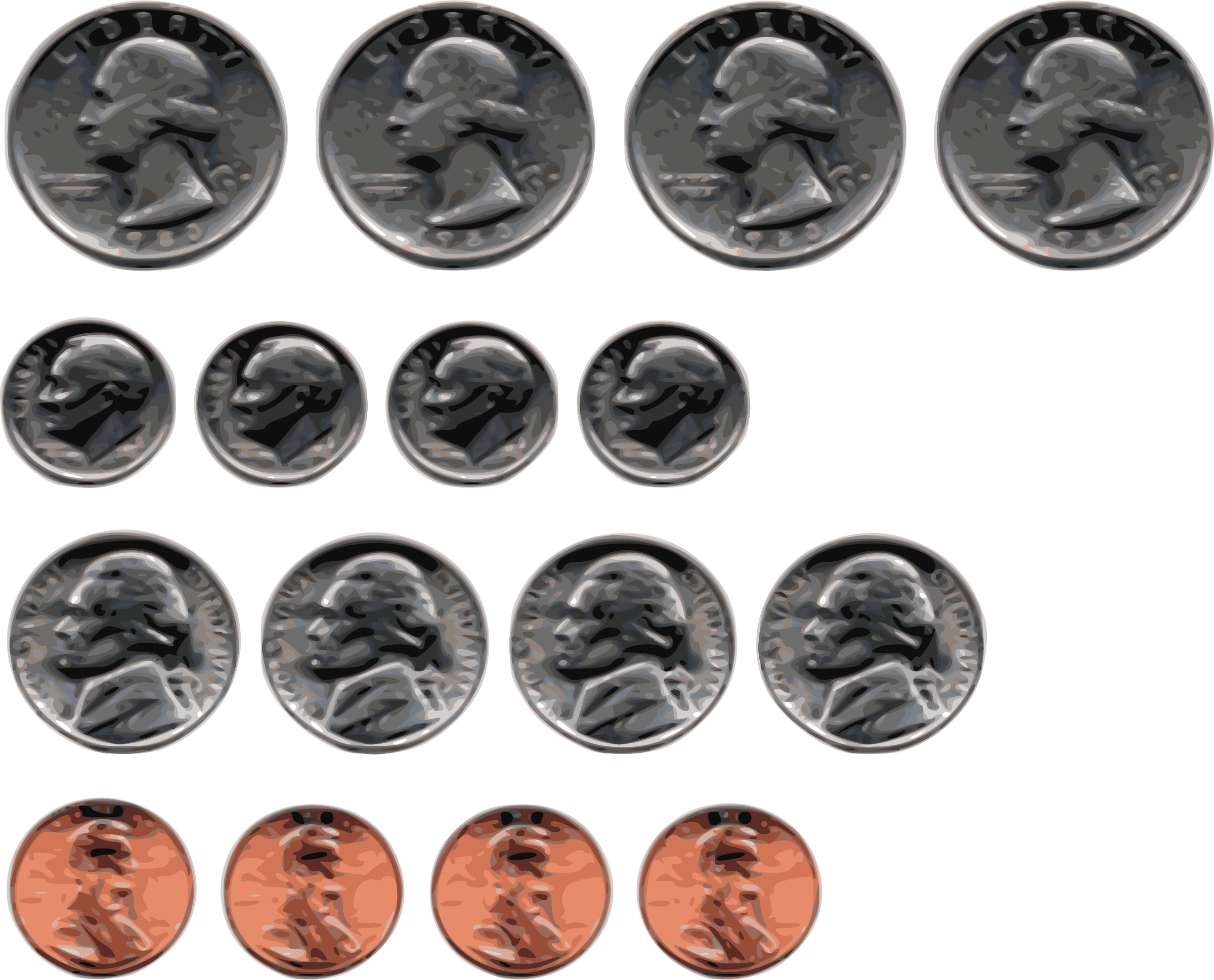 Coin clipart currency us. Coins big image png
