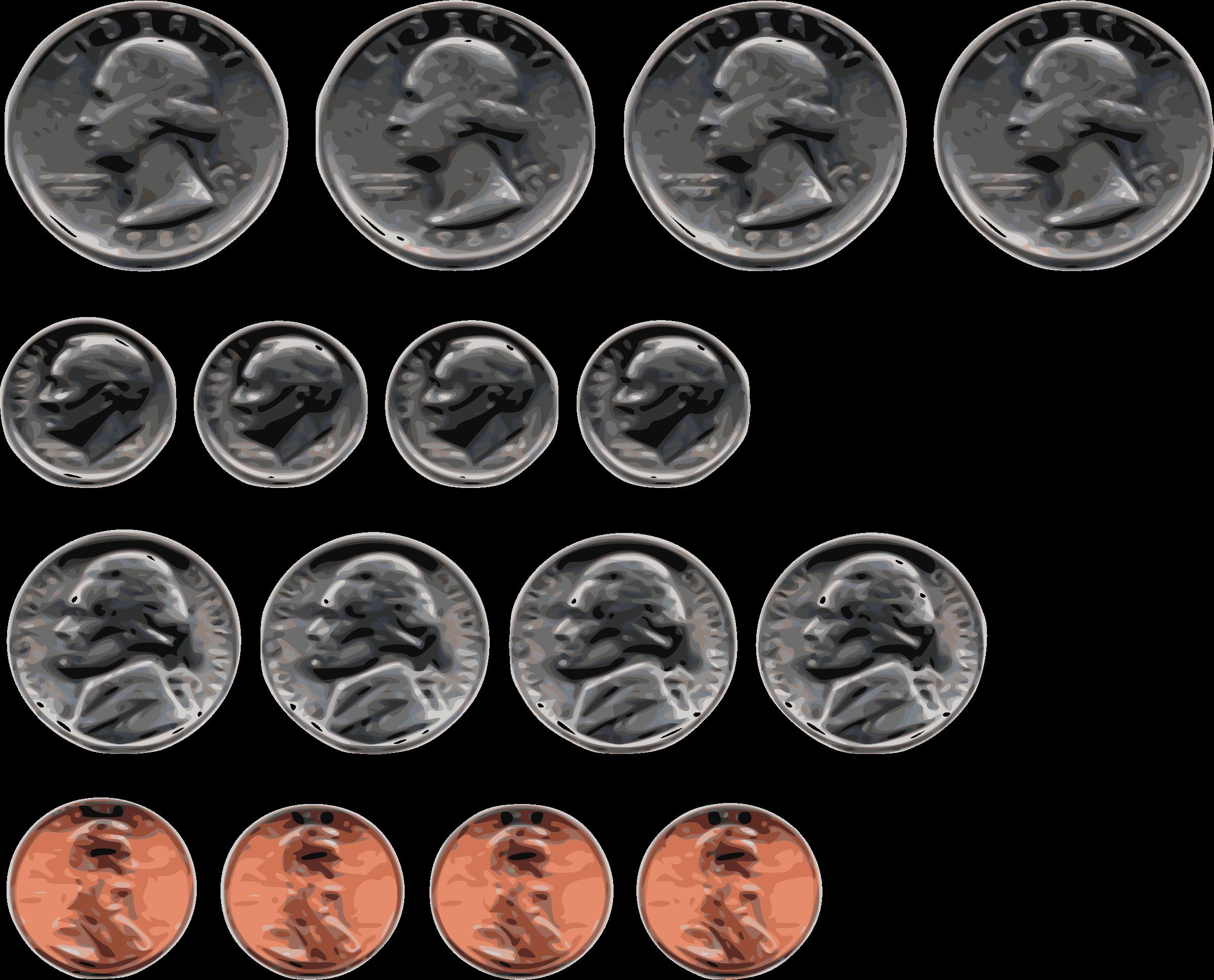 Us big image png. Coins clipart dimes