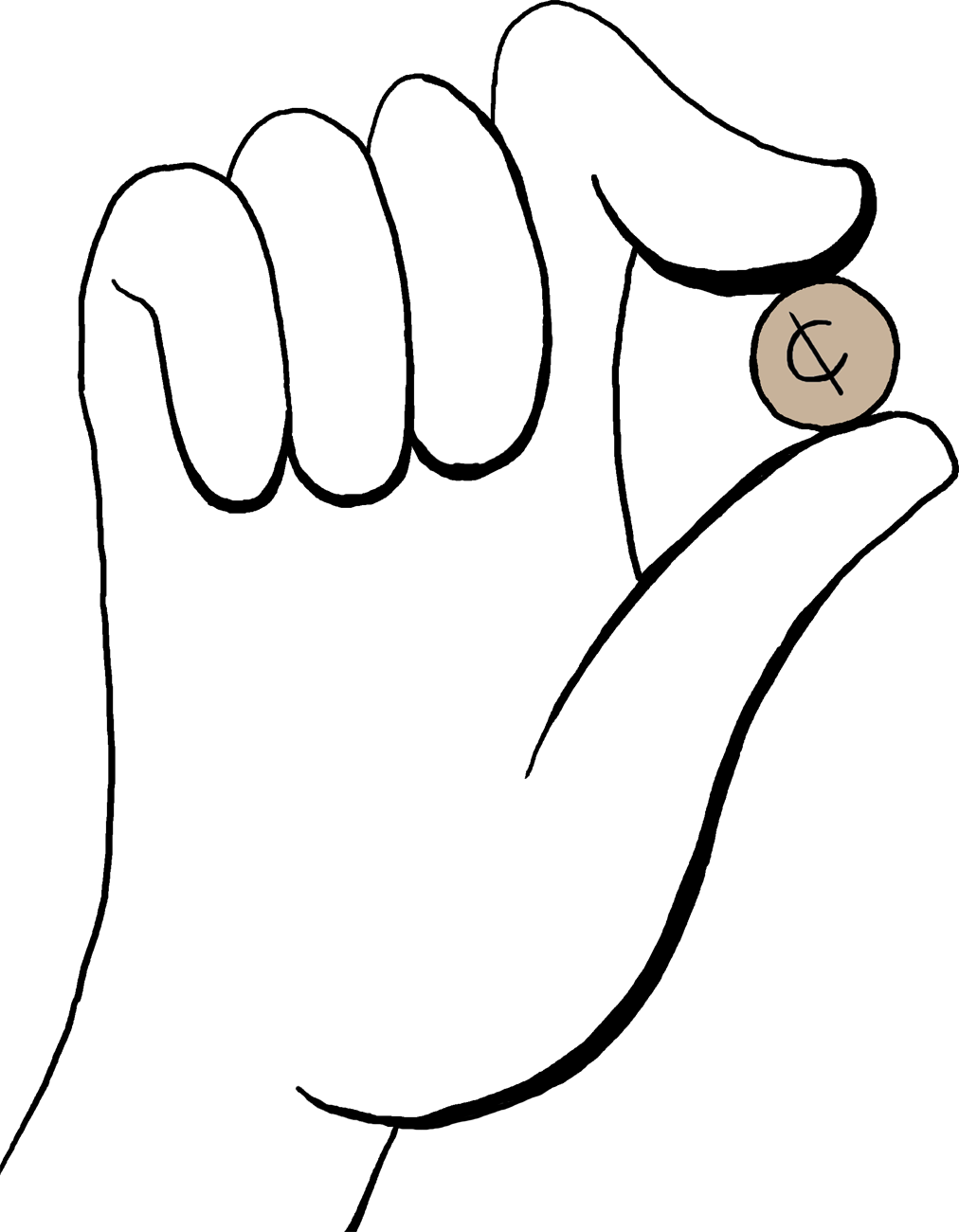 Draw clipart hand holding. Free cents cliparts download