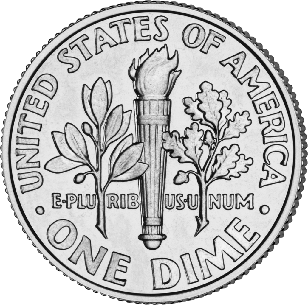 Coins clipart dimes. Datei dime rev unc