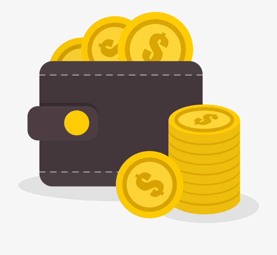 Coins png image cryptocurrency. Wallet clipart dollar